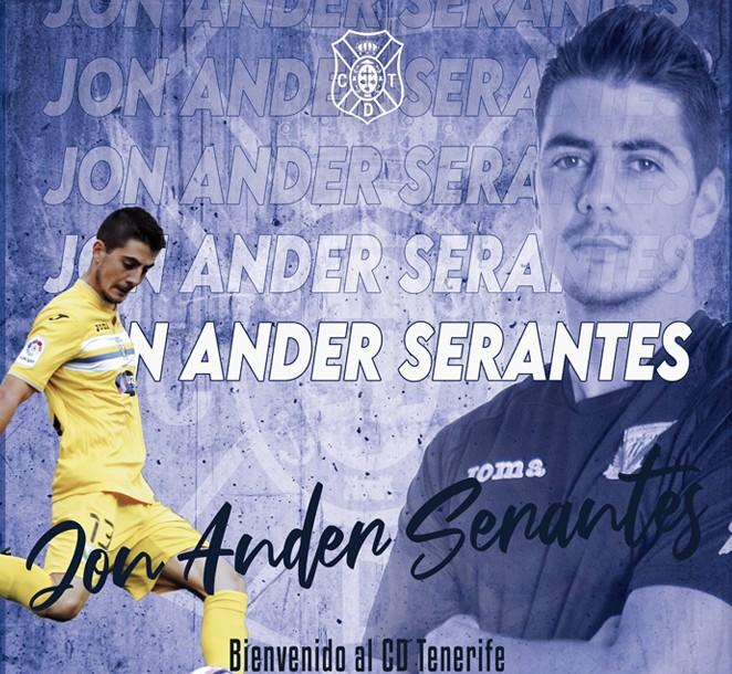 Jon Ander Serantes, nuevo guardameta del CD Tenerife