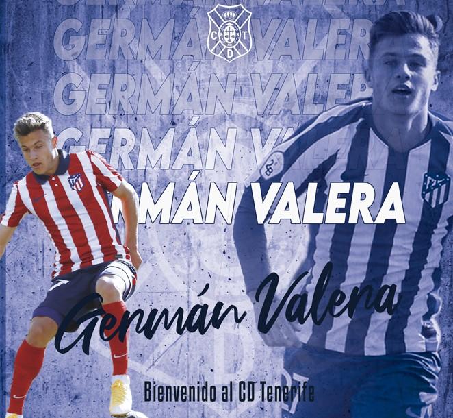 Germán Valera, tercer fichaje del CD Tenerife