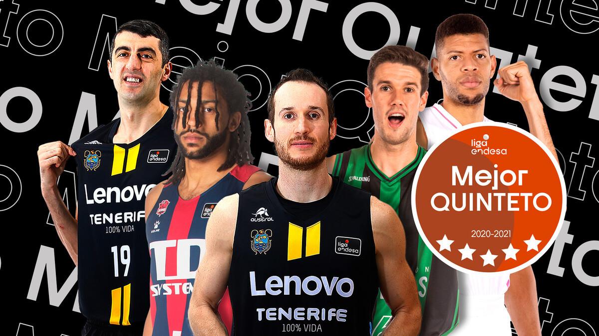Gio Shermadini y Marcelinho Huertas, en el quinteto ideal de la Liga Endesa