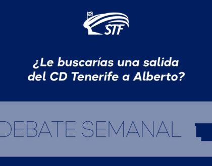El Debate Semanal: ¿Le buscarías una salida del CD Tenerife a Alberto? El 96,55% dice sí