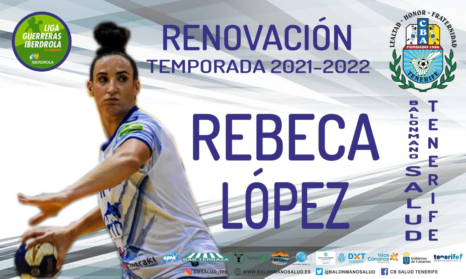 El Balonmano Salud cierra la renovación de Rebeca López, pieza clave para las tinerfeñas