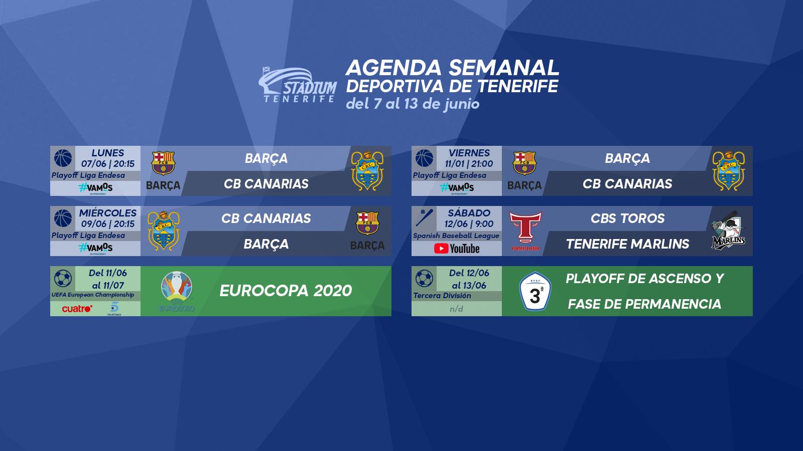 Agenda Semanal Deportiva de Tenerife (7 al 13 de junio)