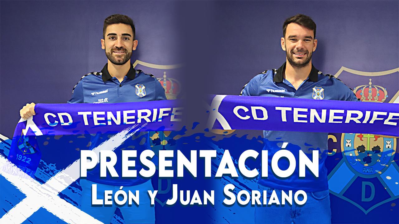 José León y Juan Soriano, presentados como nuevos jugadores del CD Tenerife