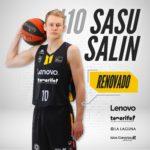 Sasu Salin renueva con el Lenovo Tenerife hasta 2023