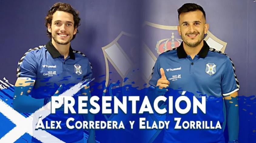 Álex Corredera y Elady Zorrilla, presentados como nuevos jugadores del CD Tenerife