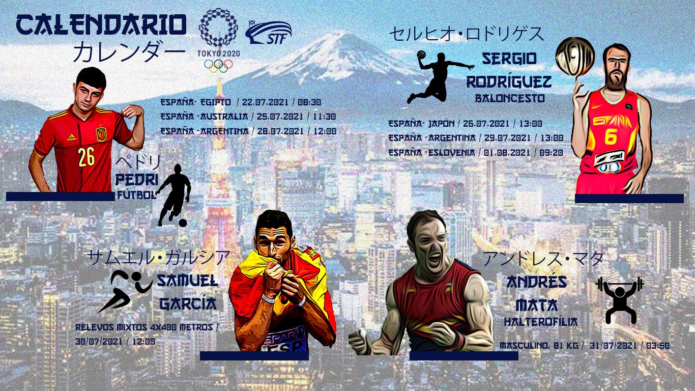 CALENDARIO | Todas las fechas de los deportistas de la provincia de Santa Cruz de Tenerife en los JJOO de Tokio 2020