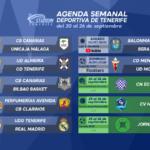 Agenda Semanal Deportiva de Tenerife (20 al 26 de septiembre de 2021)