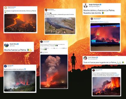 Los deportistas muestran su apoyo a la isla de La Palma tras la erupción volcánica