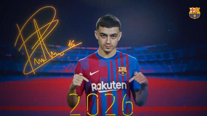 El tinerfeño Pedri renueva con el Barça hasta 2026, que lo blinda con mil millones de cláusula