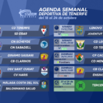 Agenda Semanal Deportiva de Tenerife (18 al 24 de octubre de 2021)