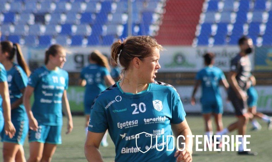 María Estella cumple 150 partidos con la UDG Tenerife