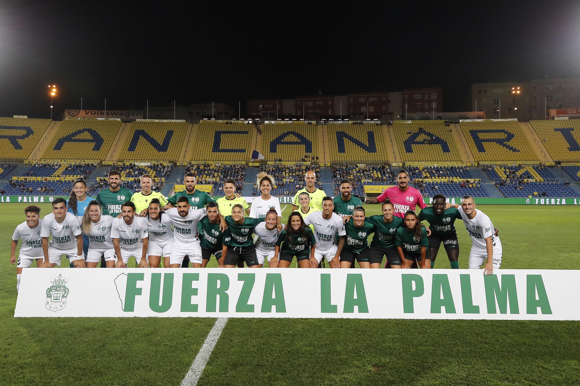 La solidaridad fue la protagonista en el partido benéfico por La Palma
