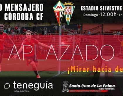 Aplazado el CD Mensajero-Córdoba CF por el Volcán de La Palma